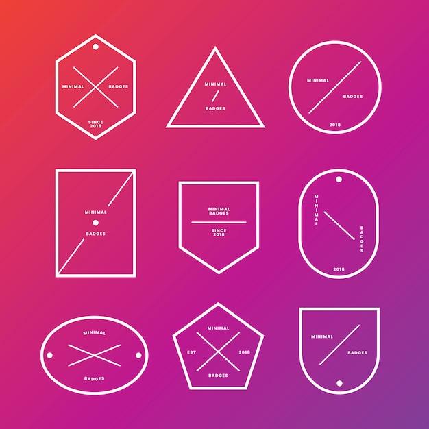 Set di badge ed etichette minimali Vettore gratuito
