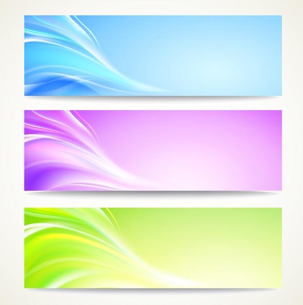 Set di banner astratti Vettore gratuito
