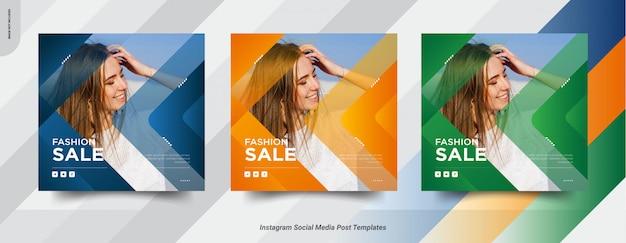 Set di banner di moda Vettore Premium