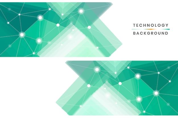 Set di banner tecnologici Vettore gratuito