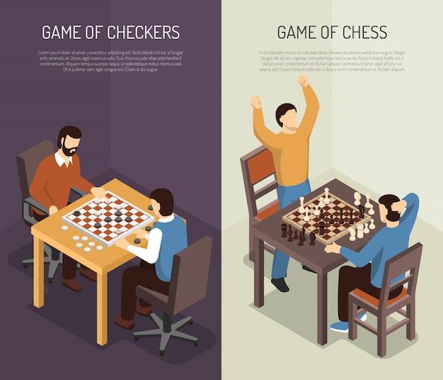Set di banner verticale di giochi da tavolo Vettore gratuito