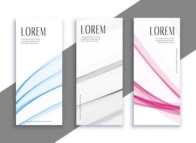 Set di banner verticali sottili astratte Vettore gratuito