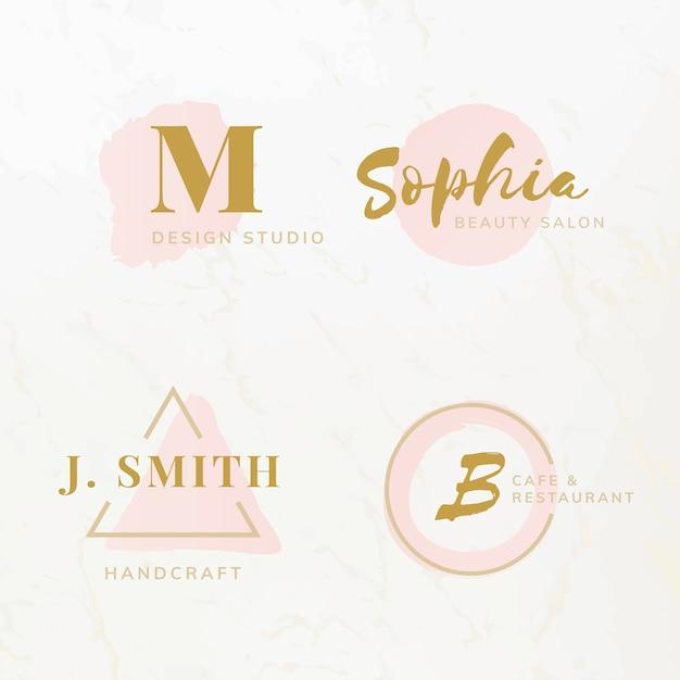 Set di bellezza e moda logo design vettori Vettore gratuito