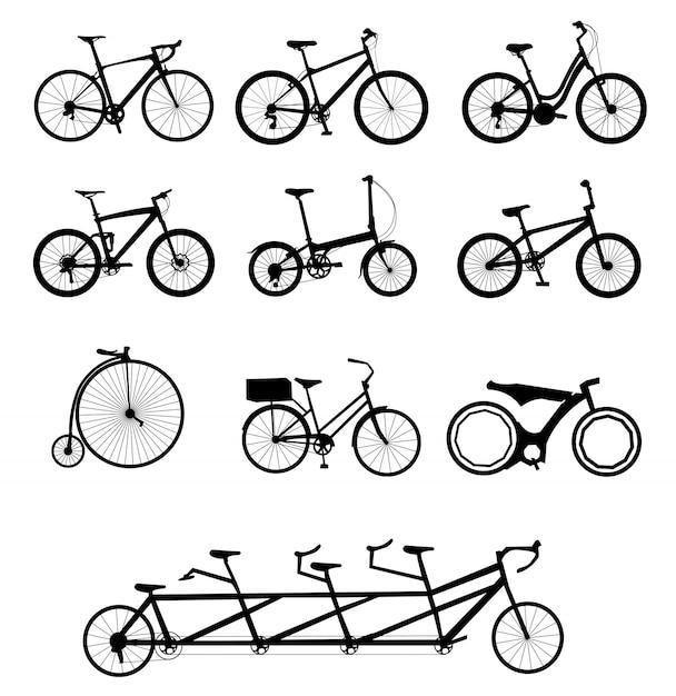 Set di biciclette Vettore Premium