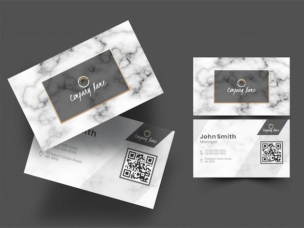 Set di biglietti da visita o biglietti da visita Vettore Premium