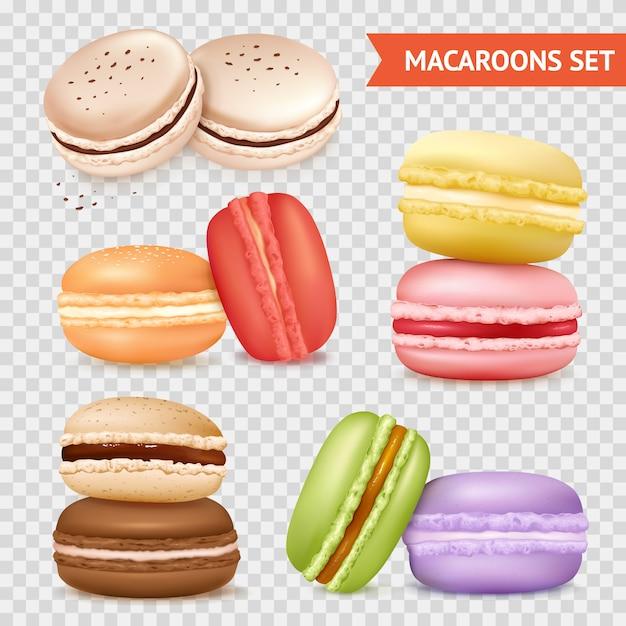 Set di biscotti di mandorla trasparente Vettore gratuito
