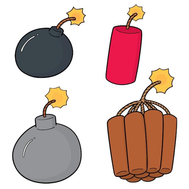 Set di bombe Vettore Premium