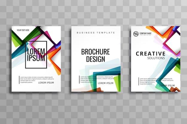 Set di brochure aziendali moderni Vettore gratuito