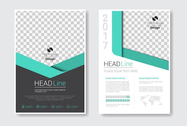 Set di brochure modello di progettazione Vettore Premium