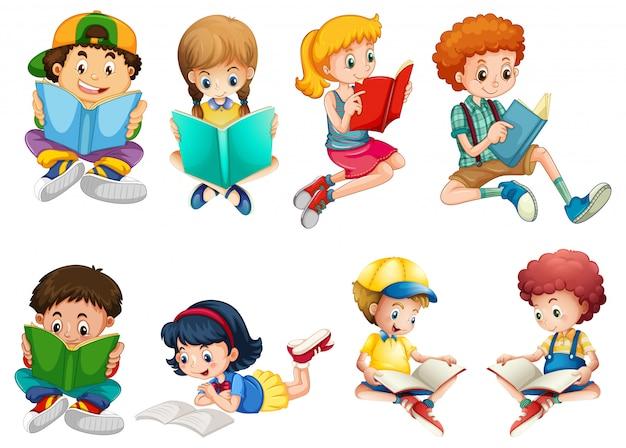 Set di caratteri per bambini Vettore gratuito