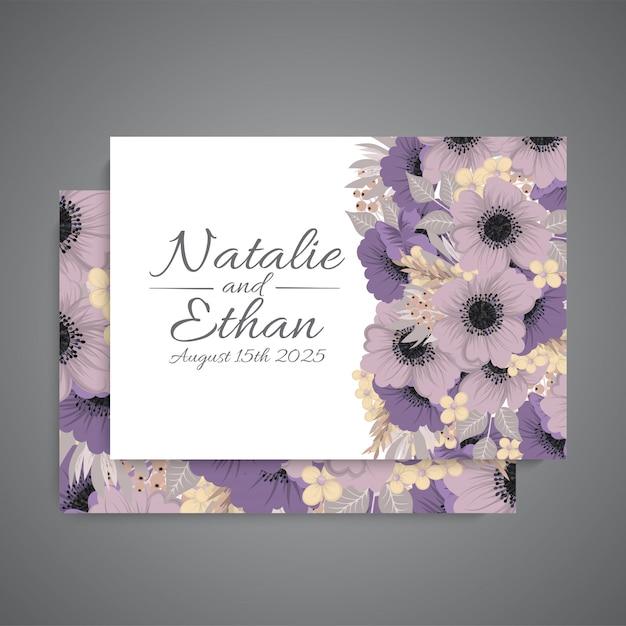 Set di carte con fiore rosa, Vettore gratuito