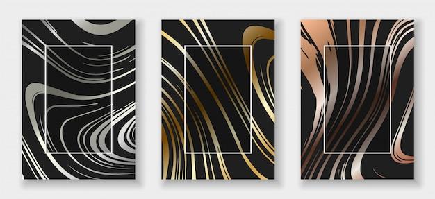 Set di carte di forme astratte Vettore Premium