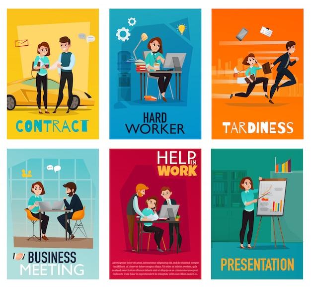 Set di carte multitasking Vettore gratuito