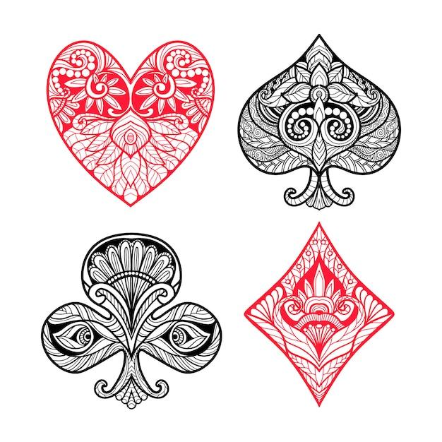 Set di carte Vettore gratuito