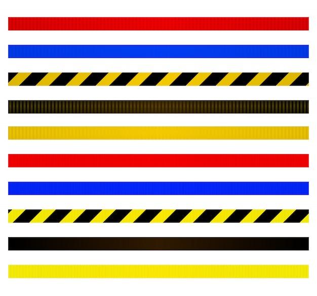 Set di cinghie per barriere metalliche Vettore Premium