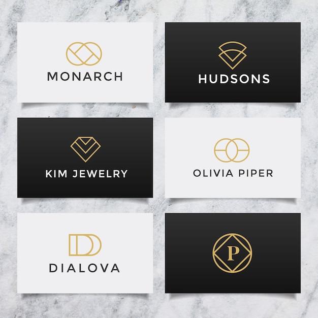 Set di collezione logo minimalista semplice creativo. Vettore Premium