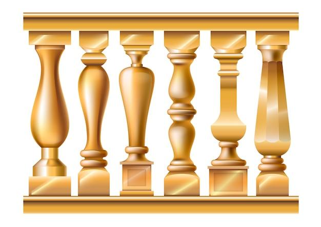 Set di colonnine classiche Vettore Premium