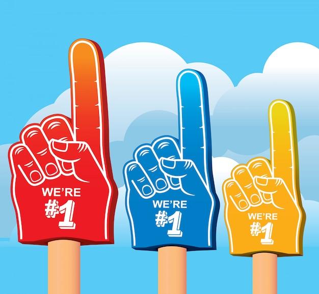 Set di colori di schiuma di mano. Vettore Premium
