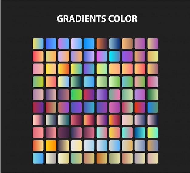Set di colori sfumati Vettore Premium
