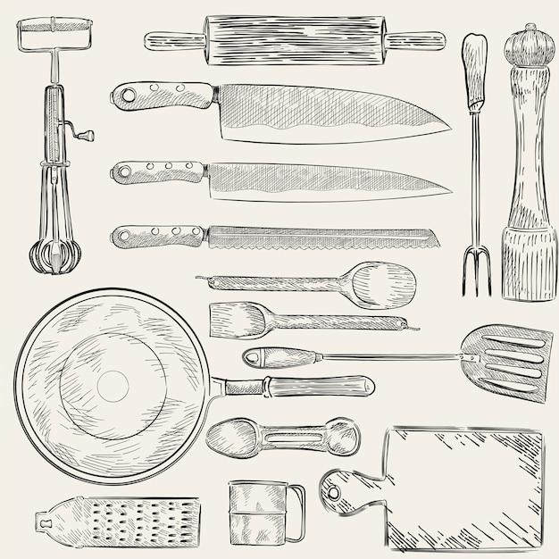 Set di coltelli Vettore gratuito