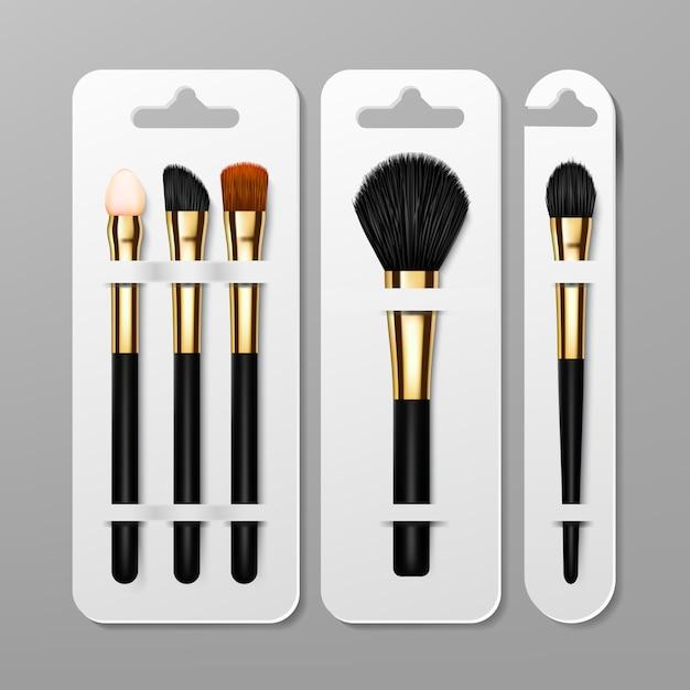 Set di confezioni per pennelli trucco Vettore Premium