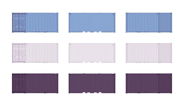 Set di container per il carico Vettore Premium