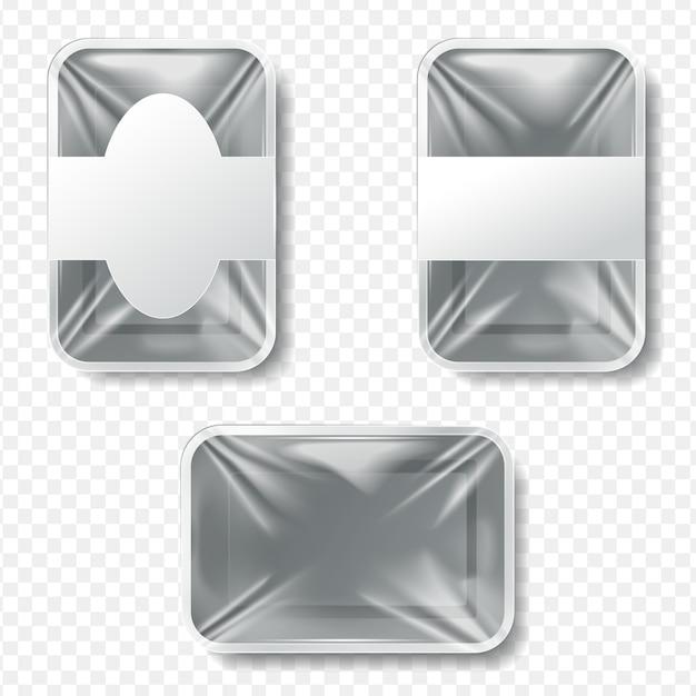 Set di contenitori per alimenti in plastica Vettore Premium