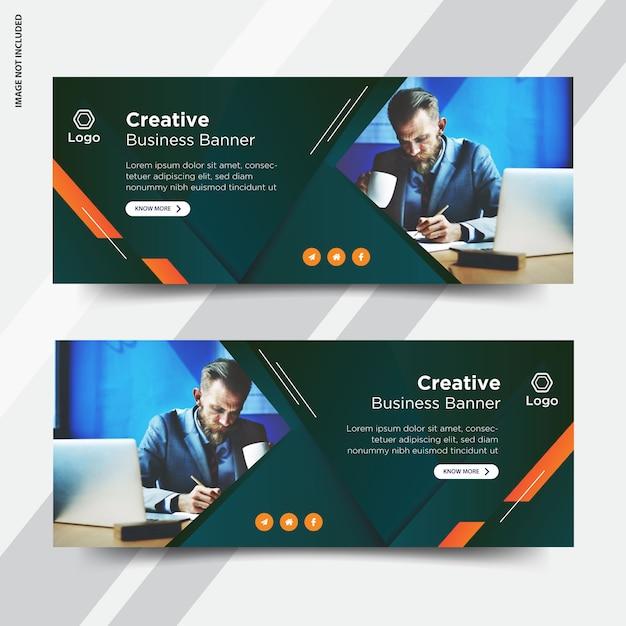 Set di copertine per facebook aziendali Vettore Premium