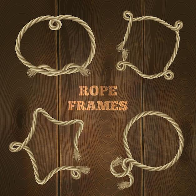 Set di cornici a corda Vettore gratuito