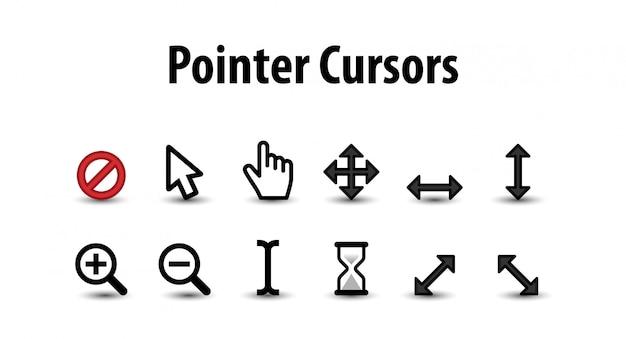 Set di cursore puntatore Vettore Premium
