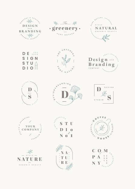 Set di design del logo Vettore gratuito