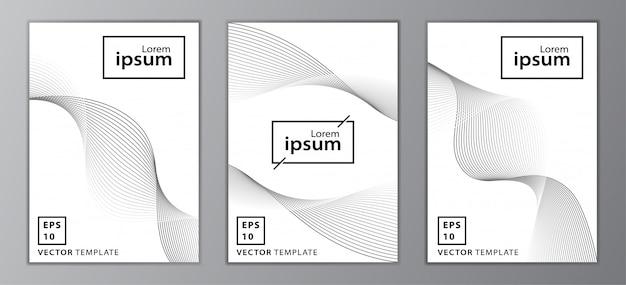 Set di design di copertina brochure aziendale minimal Vettore Premium