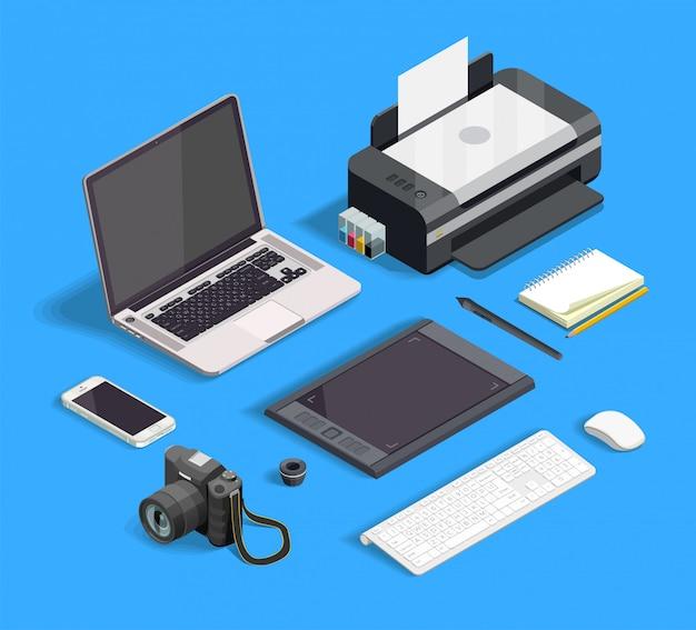 Set di design grafico Vettore gratuito