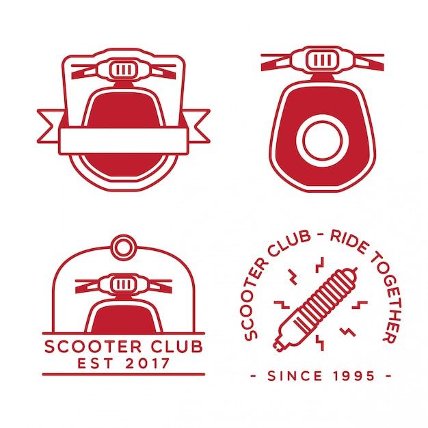 Set di design logo scooter Vettore Premium