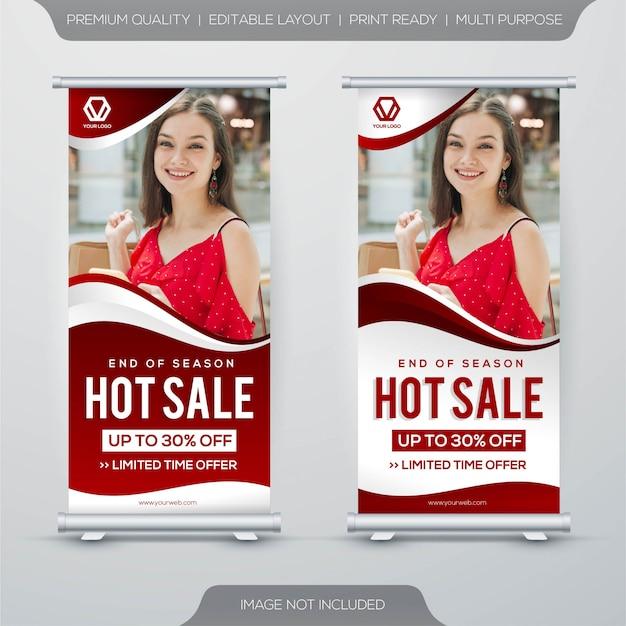 Set di design modello di banner di vendita calda Vettore Premium