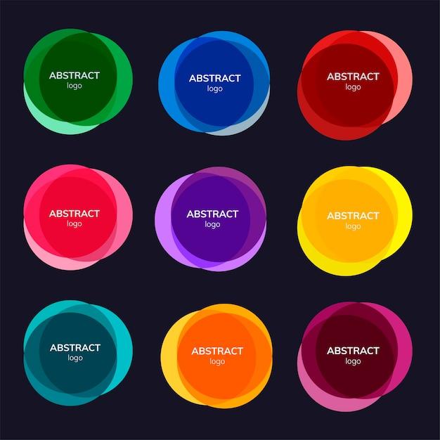 Set di disegni astratti badge Vettore gratuito