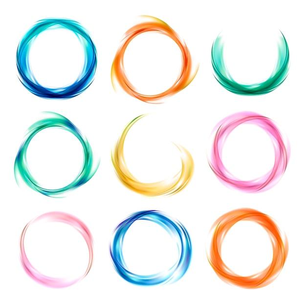 Set di disegno astratto colorato Vettore gratuito