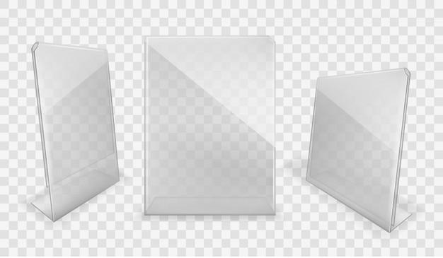 Set di display da tavolo in acrilico Vettore gratuito