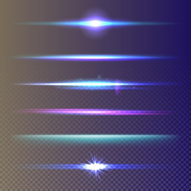 Set di effetti di luce incandescente Vettore Premium