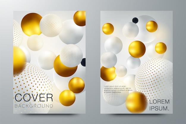 Set di elegante brochure, carta, sfondo, copertina Vettore Premium