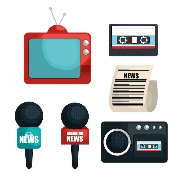 Set di elementi di comunicazione Vettore gratuito