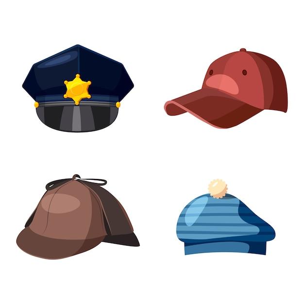 Set di elementi di protezione. cartone animato set di cappuccio Vettore Premium