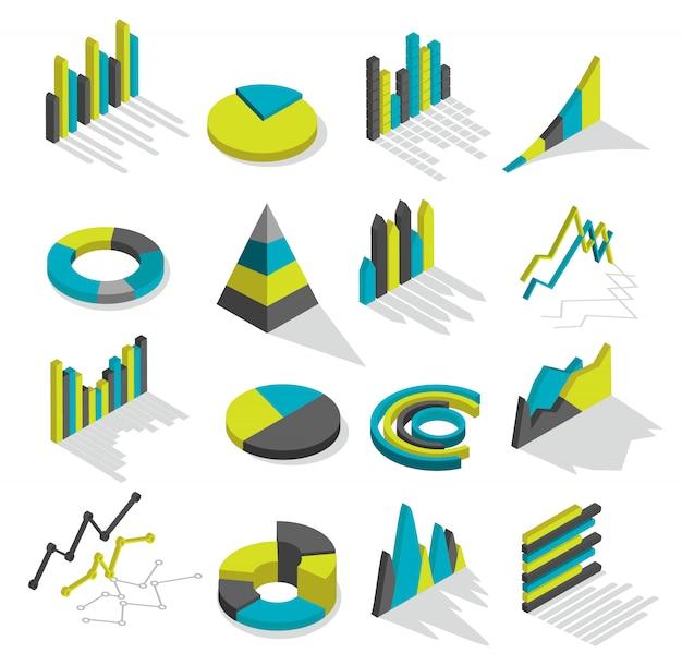 Set di elementi grafici isometrici Vettore gratuito