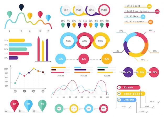Set di elementi infographic più utili Vettore Premium