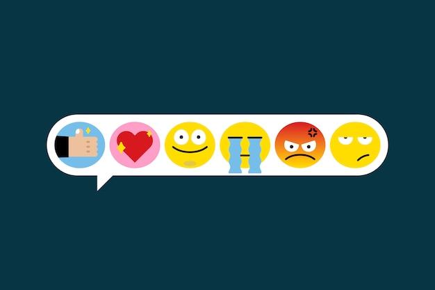 Set di emoji diversi Vettore gratuito