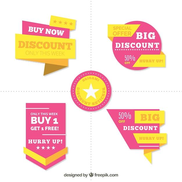 Set di etichette di vendita Vettore gratuito