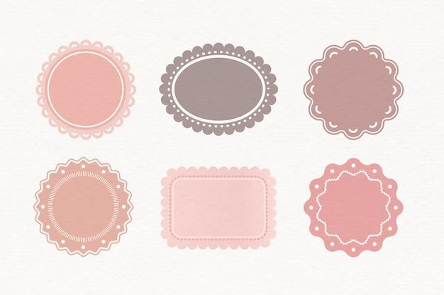 Set di etichette pastello Vettore gratuito