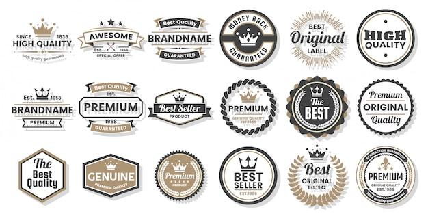 Set di etichette Vettore Premium