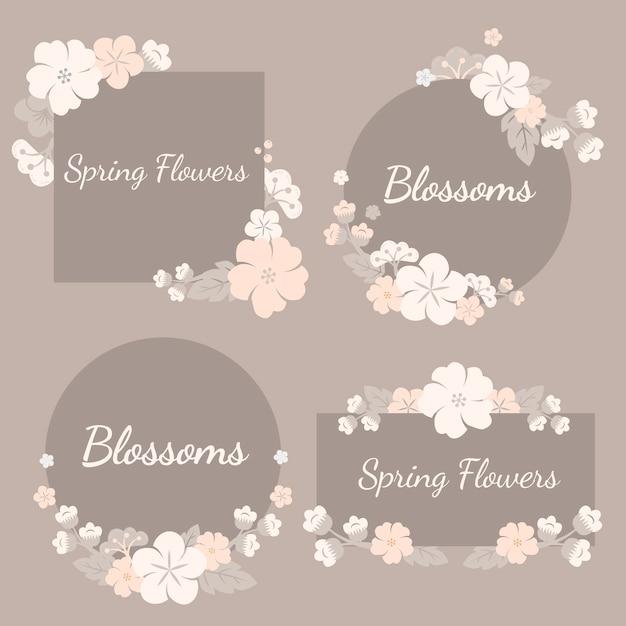 Set di fiori colorati Vettore gratuito