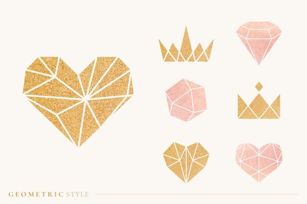 Set di forme geometriche Vettore gratuito